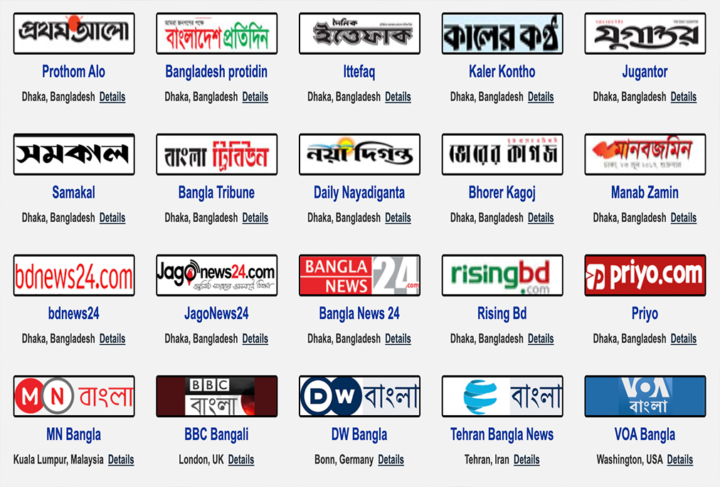 Bangladesh Media and Online TV Channels