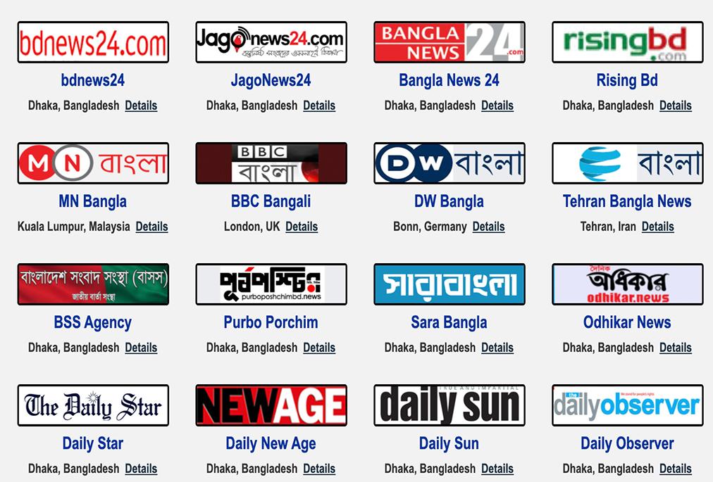 All National Newspapers Bangladesh