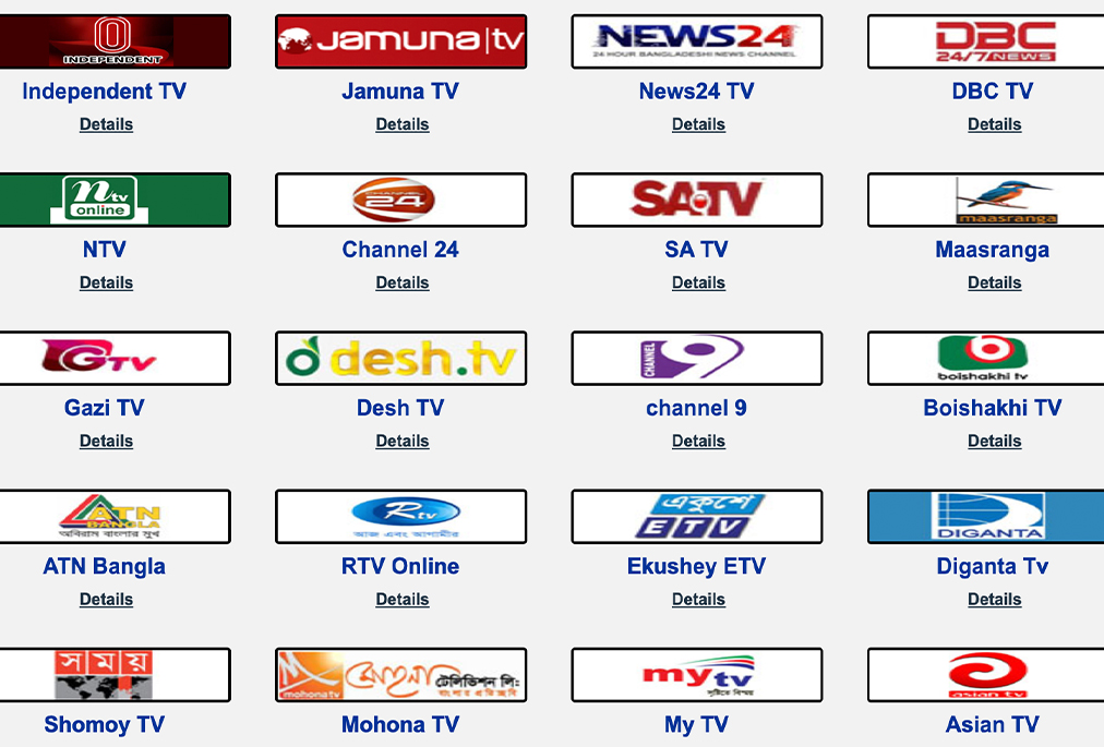 The live online Bangladesh Media and TV Channels